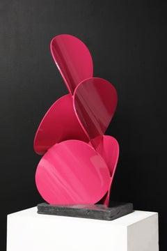 a x b #8, Matt Devine, (pink freestanding sculpture, Indoors/Outdoors)