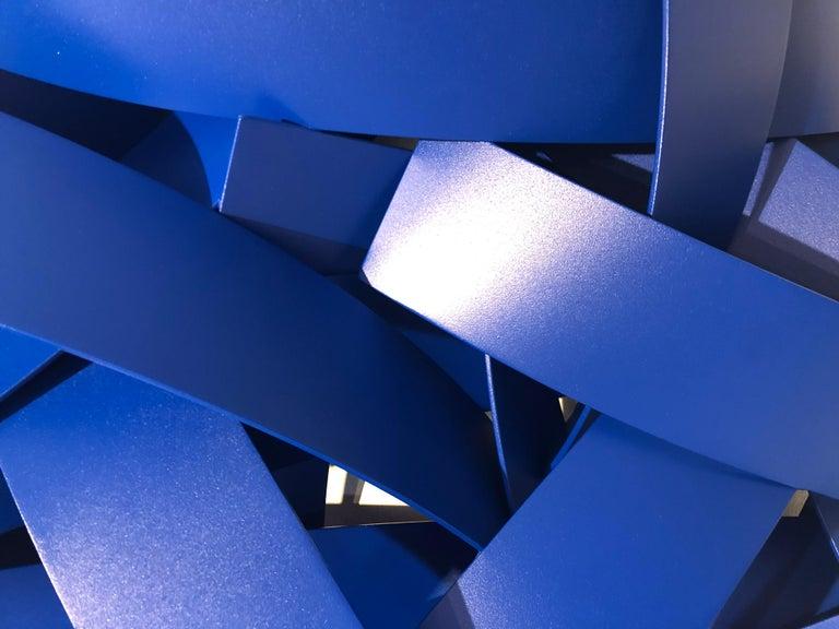 Blue Velvet, Matt Devine, Indoor/Outdoor Wall Sculpture, Aluminum, Blue Paint For Sale 1