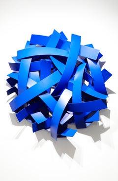 Blue Velvet, Matt Devine, Indoor/Outdoor Wall Sculpture, Aluminum, Blue Paint