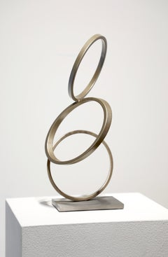 MP#3, Matt Devine, Abstract Steel w/ Powdercoat, Stainless Steel base, Circles