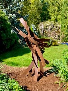 Passing By #4, Matt Devine, Cor-ten Steel, Indoor/Outdoor Sculpture, Abstract