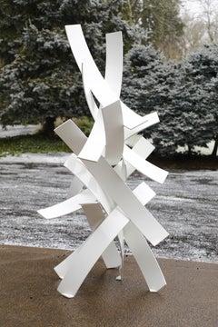 Snow Day, Matt Devine, Aluminum w/ Powdercoat Indoor/Outdoor Abstract Sculpture