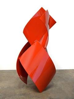 Solidité, Matt Devine, Steel with Red Powdercoat (Indoor Sculpture)