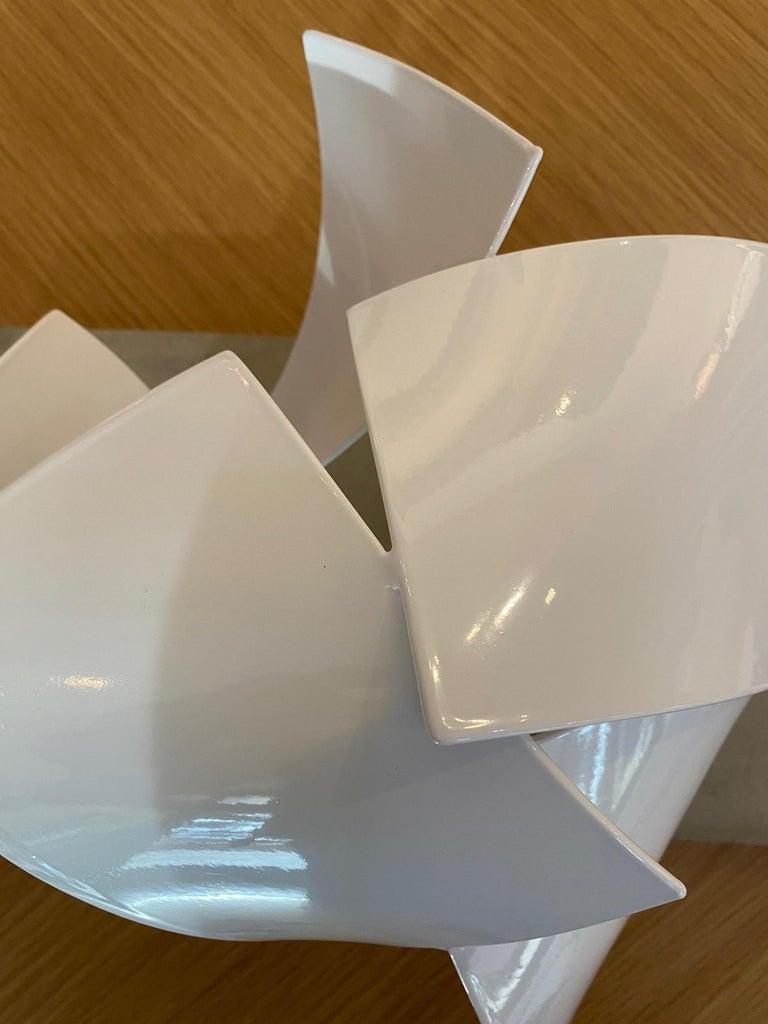 Studio Study 19-19 (Indoor Sculpture), Matt Devine, Steel, White Powdercoat For Sale 1