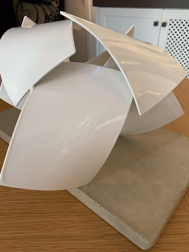 Studio Study 19-19 (Indoor Sculpture), Matt Devine, Steel, White Powdercoat For Sale 2
