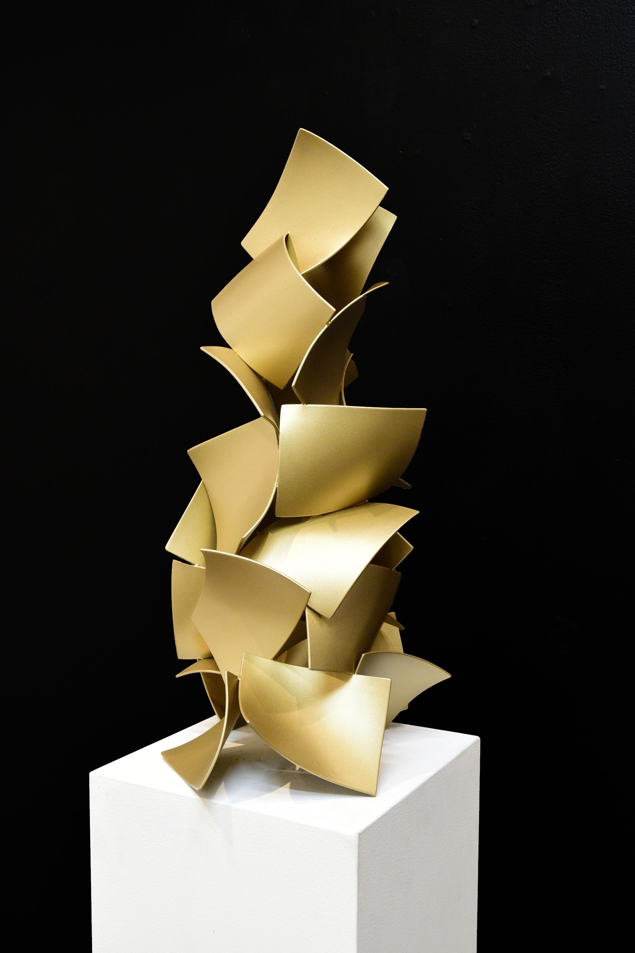 Testing the Wheel #7_Matt Devine_Freestanding Sculpture_Abstract_Metallic