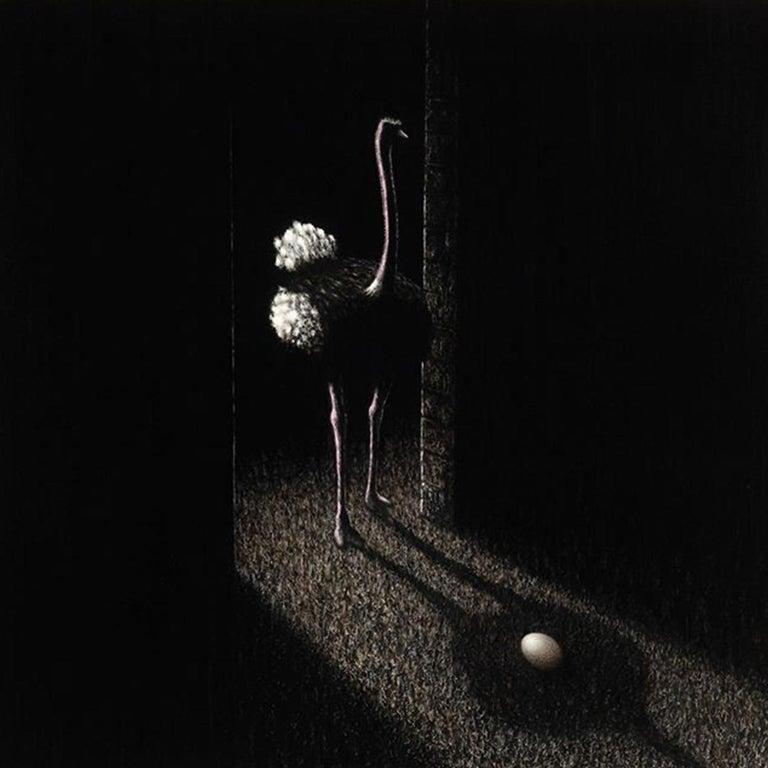 Matt Duffin Animal Painting - Untitled (Ostrich)