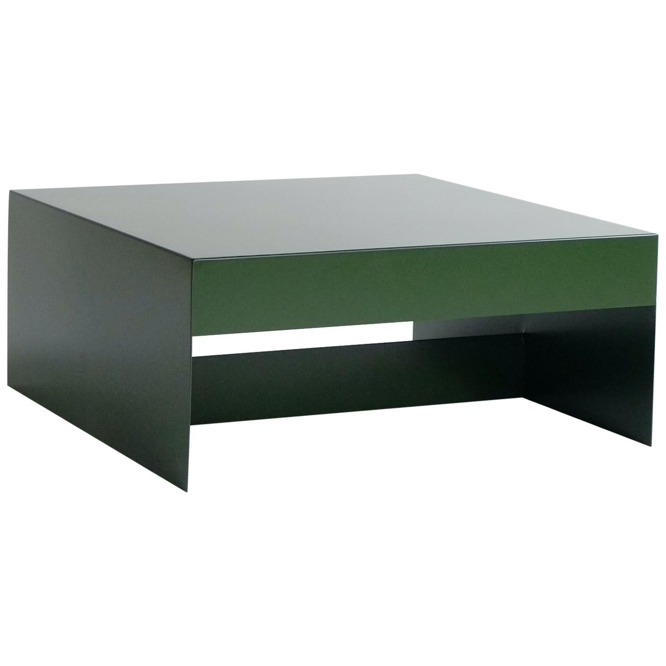 Matt Green, Single Form Square Aluminium Coffee Table, Customisable
