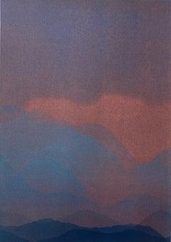 Matt Jukes, At First Light, Original Abstract Art, Contemporary Monoprint