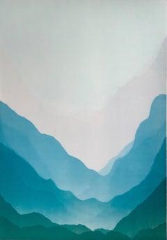 Matt Jukes, Down That Way, Abstract Landscape Art, Contemporary Art