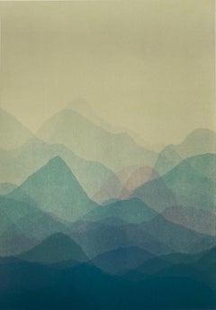 Matt Jukes, Shadow Play II, Unique Abstract Monoprint, Affordable Art, Art Onlin