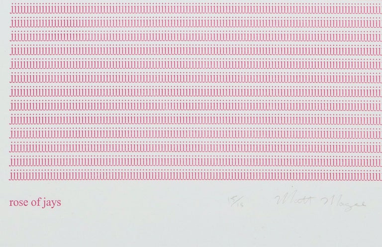 Matt Magee Rose of Jays, 2011 Relief print on handmade paper 21 3/4 x 15 inches Ed. 15