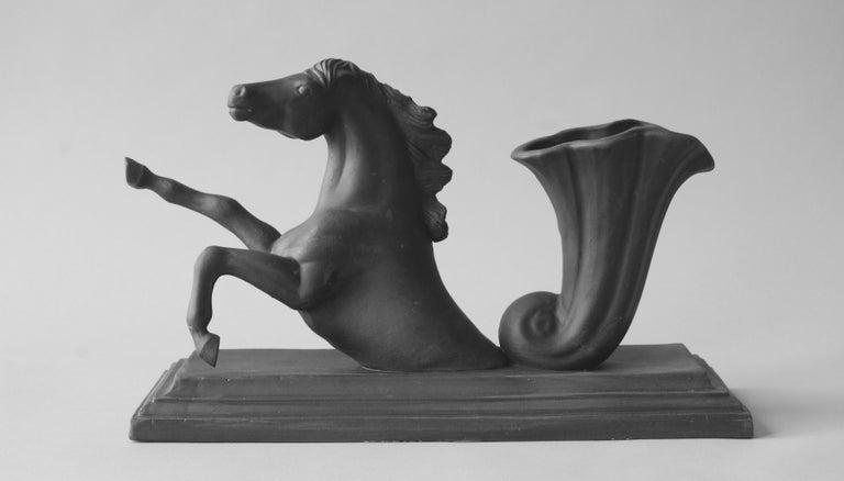 Matt Smith Figurative Sculpture - Horse made from Black Parian