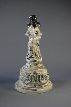 The Grand Tourest, White earthenware, underglaze colours and platinum lustre