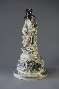 The Grand Tourist, White earthenware, underglaze colours and platinum lustre