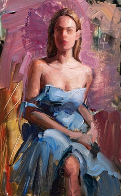 """""""Dagny in Blue"""" Oil Painting"""