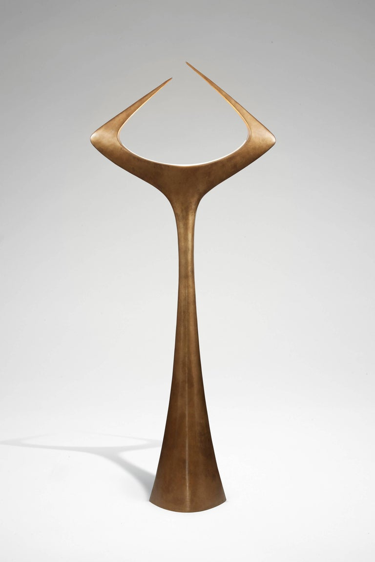 Matta, floor lamp 'mordoré' patinated bronze, signed with the artist's mark.  Limited edition x 25. Numbered 2 / 25.