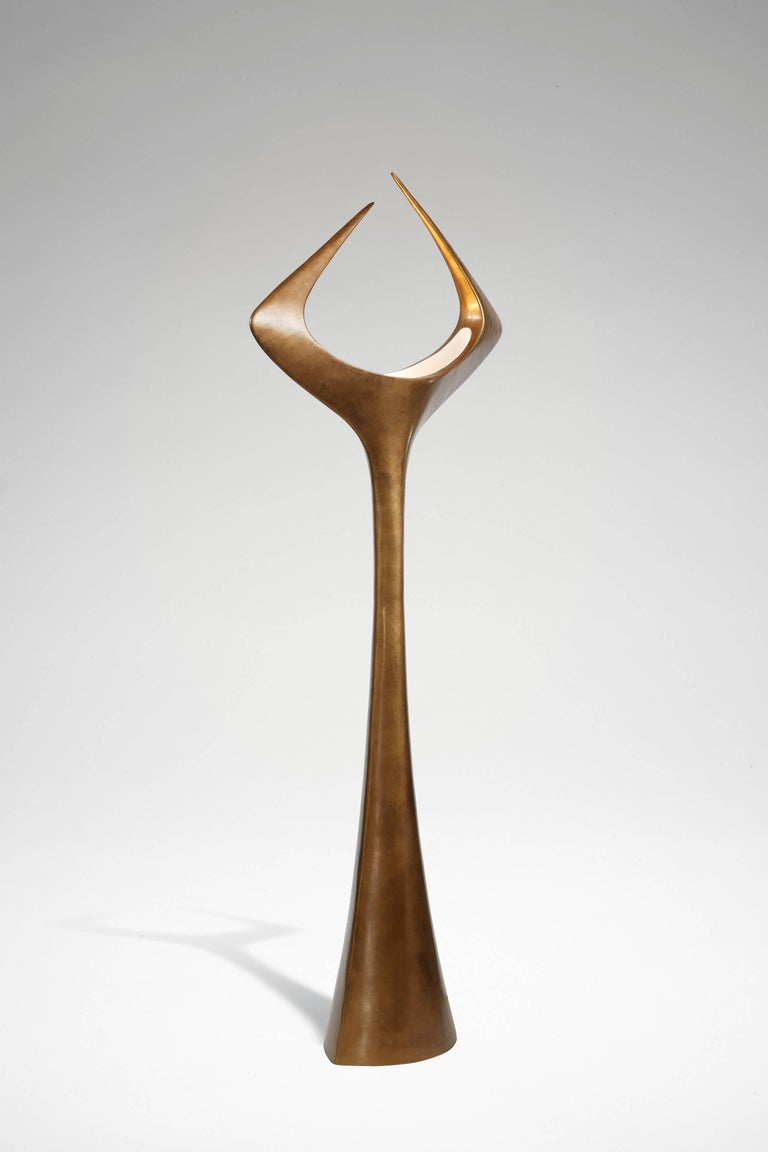 French Matta, Floor Lamp 'Mordoré' Patinated Bronze by Alexandre Logé For Sale