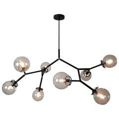 "Matte Black Brass Model 520 ""Molecular"" Chandelier by Blueprint Lighting, 2017"