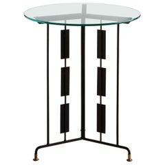 Matte Black Sculptural Accent Table