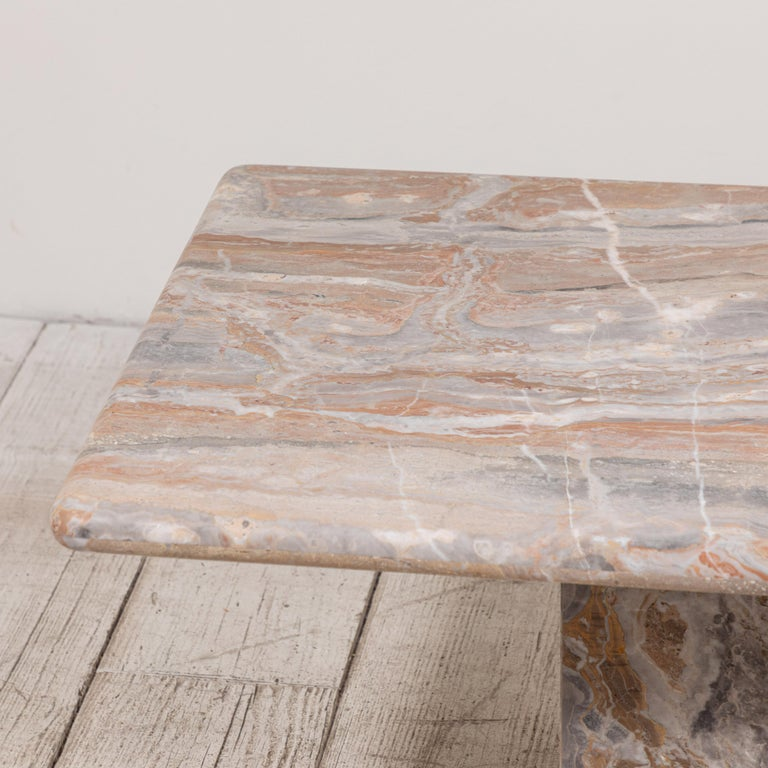 Matte Marble Rectangular Coffee Table 6