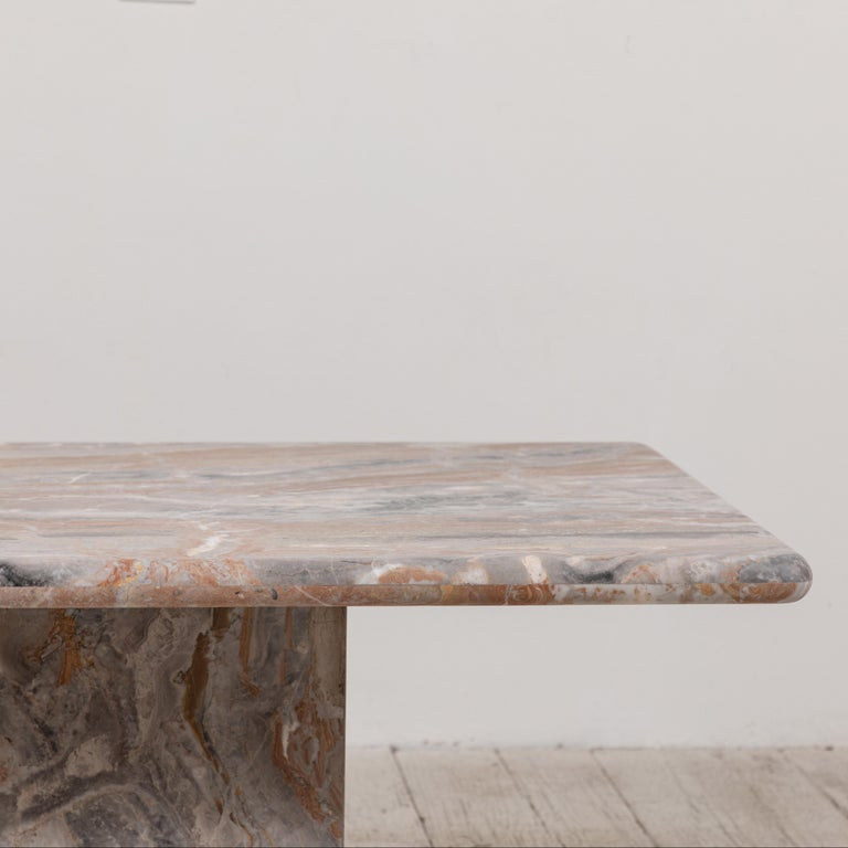 Matte Marble Rectangular Coffee Table 7