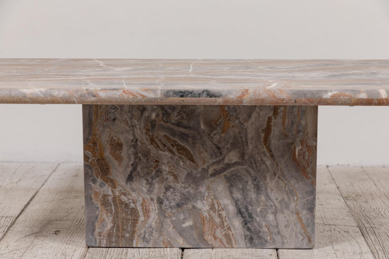 Matte Marble Rectangular Coffee Table 8