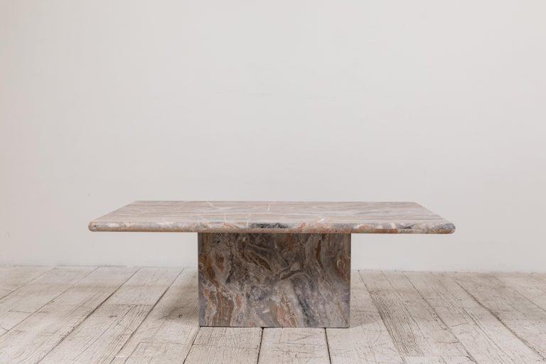 Matte Marble Rectangular Coffee Table 1