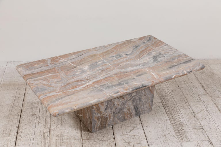 Matte Marble Rectangular Coffee Table 5
