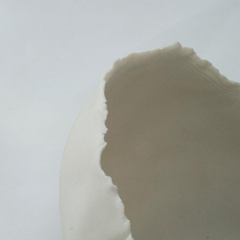 Minimalist Matte Porcelain Bowl, Small Egg Shell, in Stock For Sale