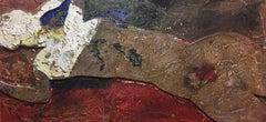 Bultrini  Original Abstract mixed media  Homage to Modigliani acrylic painting