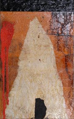 """path between trees 2008 original contemporary mixed media painting"