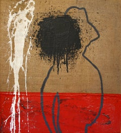 """PAUL GUILLAUME II""  original contemporary mixed media painting"