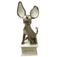 "Matteo Cibic and Superego Glazed Porcelain ""Dago"" Dog Shape Italian Sculpture"