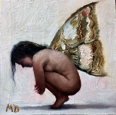 """""""Curled Fairy"""" Oil Painting"""
