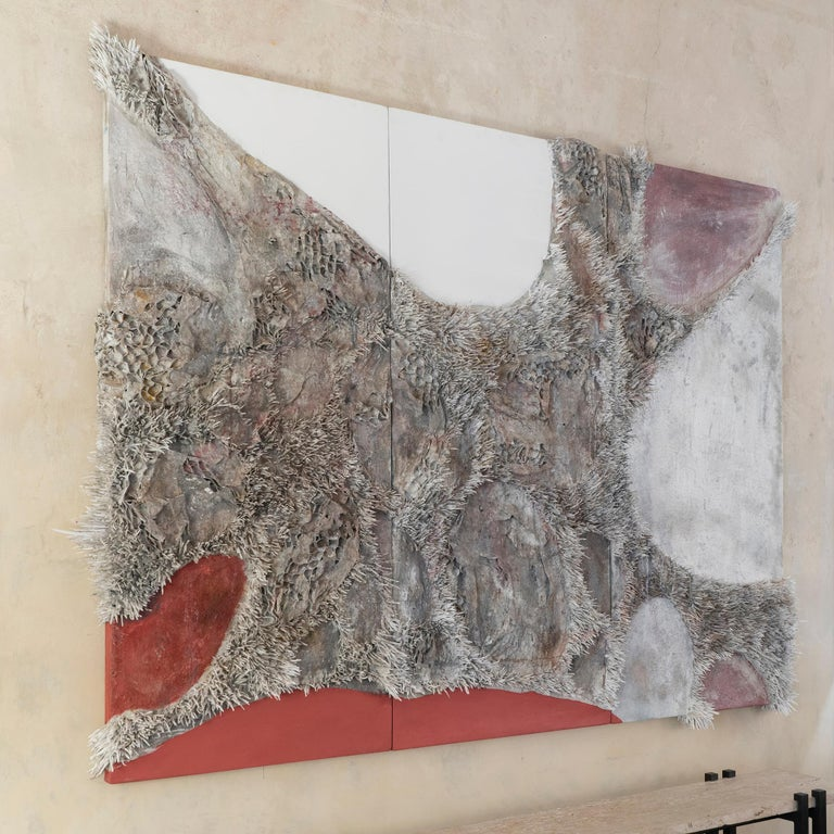 Matteo Giampaglia Mixed-Media Abstract Triptych Wall Art, Italy, 2019 In New Condition For Sale In Firenze, IT