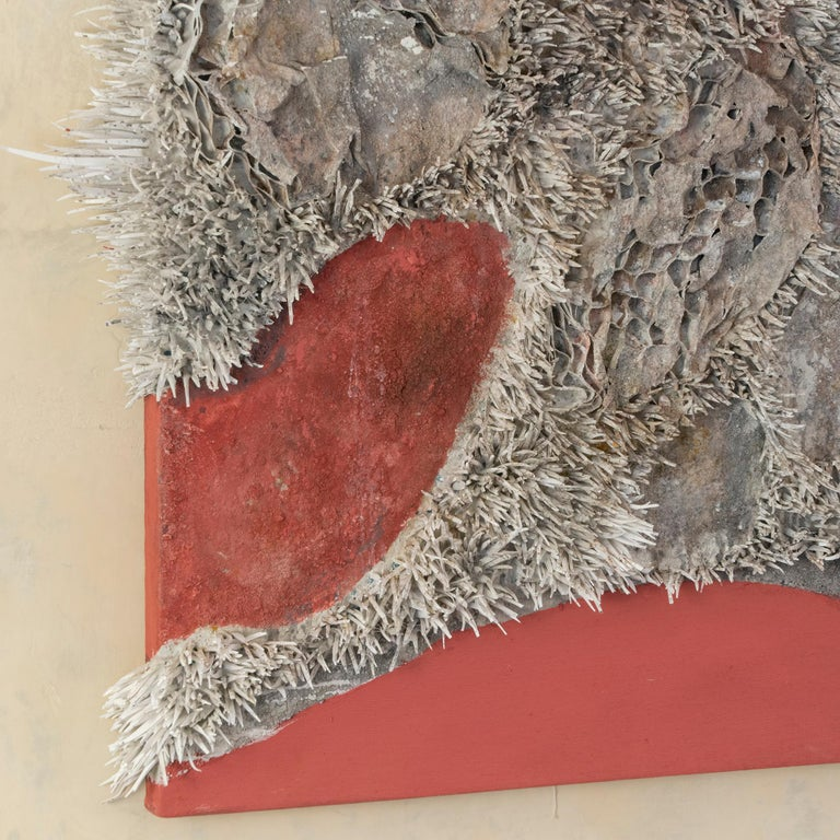 2010s Matteo Giampaglia Mixed-Media Abstract Triptych Wall Art, Italy, 2019 For Sale