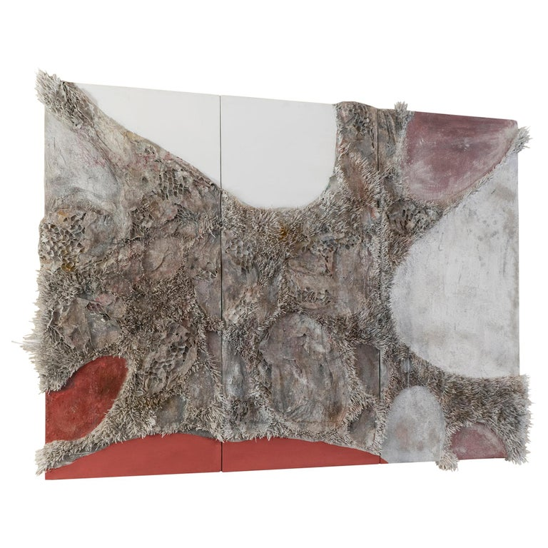 Matteo Giampaglia Mixed-Media Abstract Triptych Wall Art, Italy, 2019 For Sale