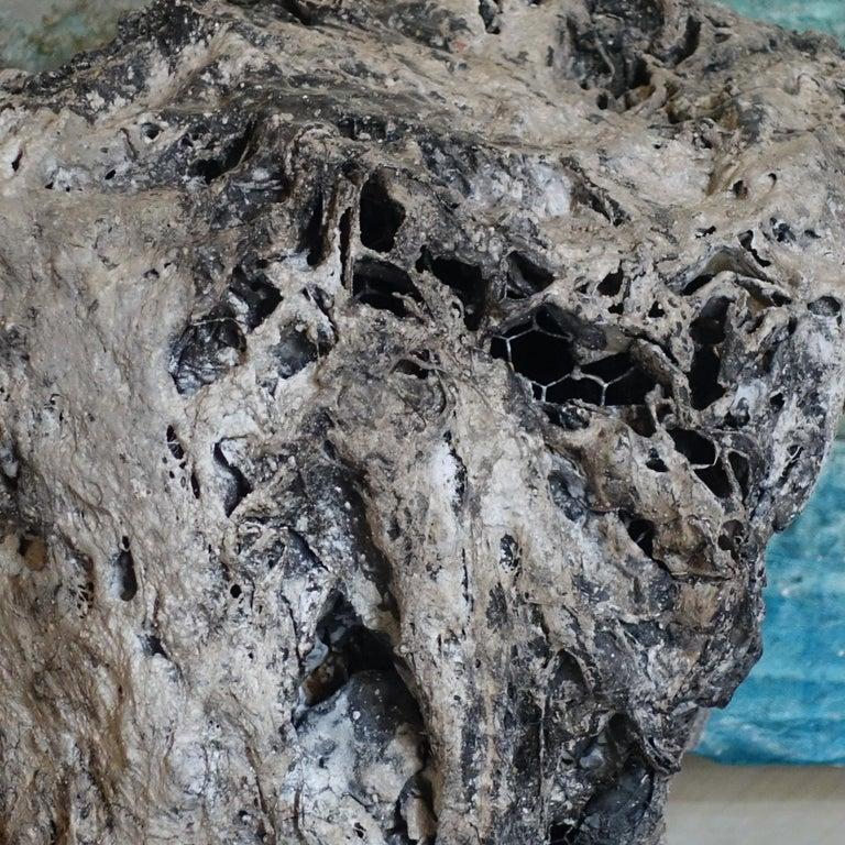 Mixed-media abstract sculpture, aluminum plaster, papier machè, acrylic.