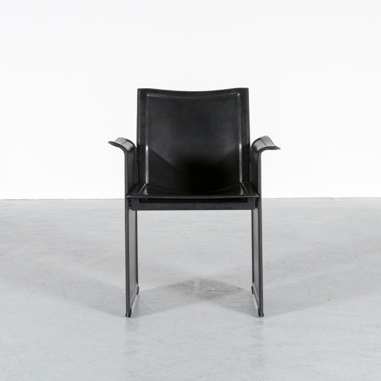 Bauhaus Matteo Grassi Korium KM1 Leather Chair Black One-Seat