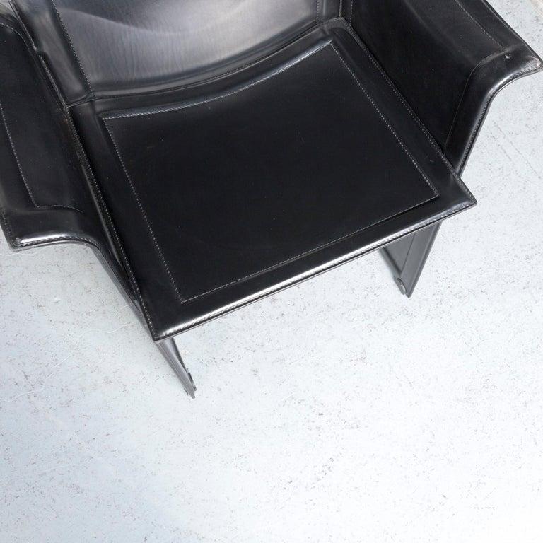 Italian Matteo Grassi Korium KM1 Leather Chair Black One-Seat