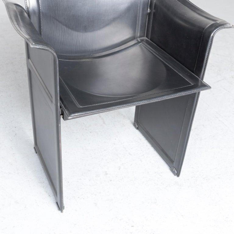 Matteo Grassi Korium KM1 Leather Chair Black One-Seat In Good Condition In Cologne, DE