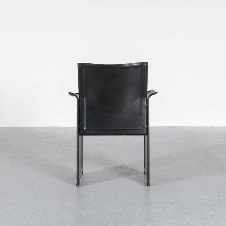 Matteo Grassi Korium KM1 Leather Chair Black One-Seat 1