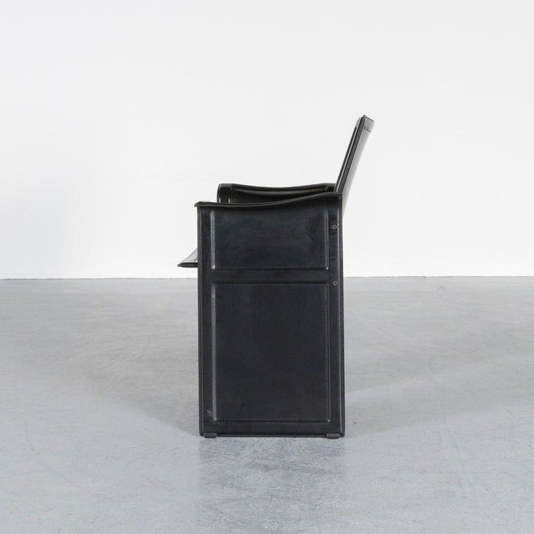 Matteo Grassi Korium KM1 Leather Chair Black One-Seat 2