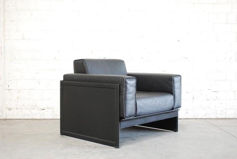 Matteo Grassi Korium Leather Armchair or Chair Korium by Tito Agnoli For Sale 4