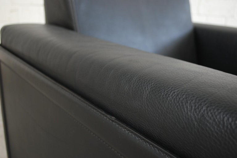 Matteo Grassi Korium Leather Armchair or Chair Korium by Tito Agnoli For Sale 5