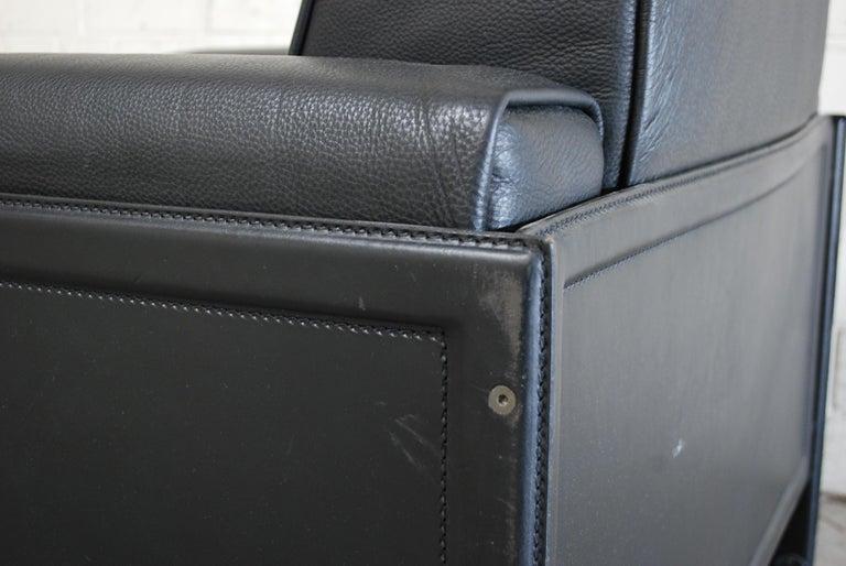 Matteo Grassi Korium Leather Armchair or Chair Korium by Tito Agnoli For Sale 7
