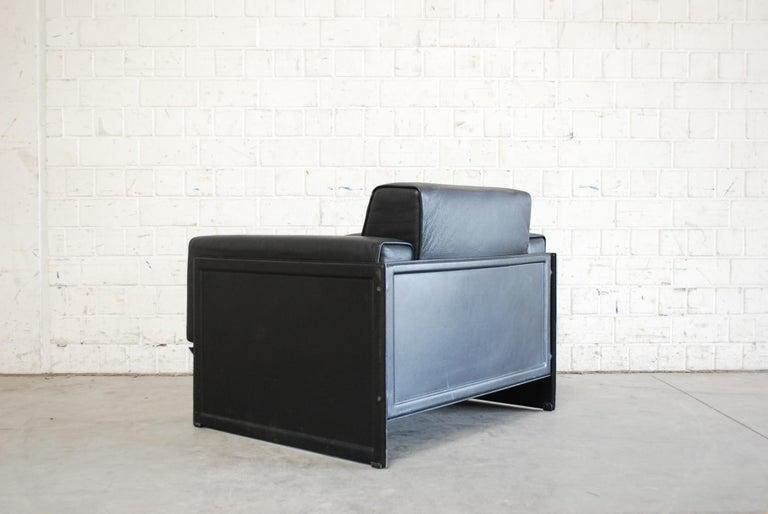 Matteo Grassi Korium Leather Armchair or Chair Korium by Tito Agnoli For Sale 8