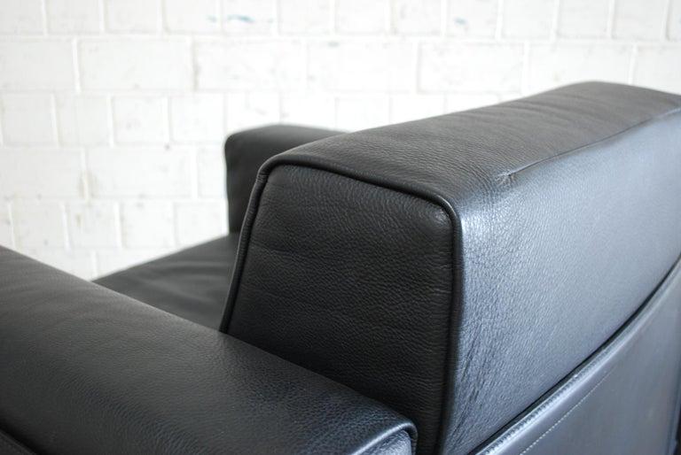 Matteo Grassi Korium Leather Armchair or Chair Korium by Tito Agnoli For Sale 9