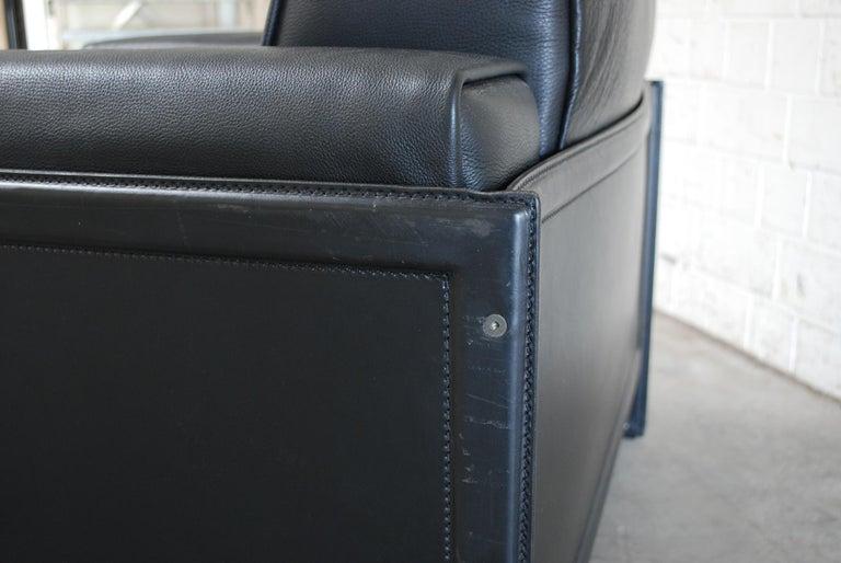 Matteo Grassi Korium Leather Armchair or Chair Korium by Tito Agnoli For Sale 12